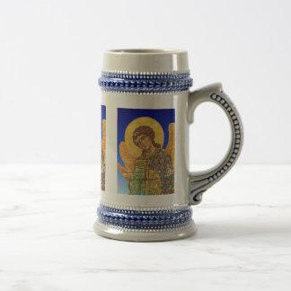 Vintage orthodox ikon, Angel Gabriel 18 Oz Beer Stein