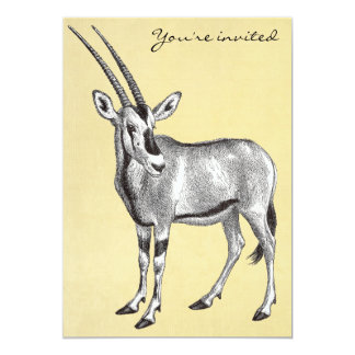 Vintage Oryx Invitation