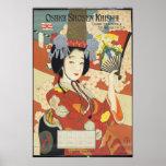 Vintage Osaka Shosen Kaisha Travel Poster Art