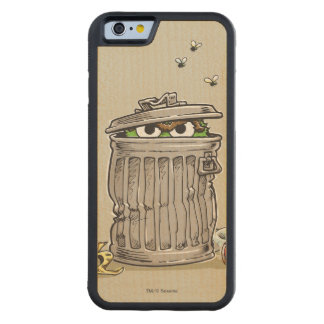Vintage Oscar in Trash Can Carved Maple iPhone 6 Bumper Case