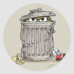 Vintage Oscar in Trash Can Classic Round Sticker