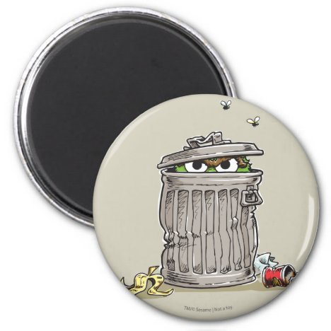 Vintage Oscar in Trash Can Magnet