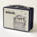 """Vintage Oscar in Trash Can Metal Lunch Box<br><div class=""""desc"""">Check out Ocar in this vintage graphic!        This item is recommended for ages 2 . &#169;  2014 Sesame Workshop. www.sesamestreet.org</div>"""