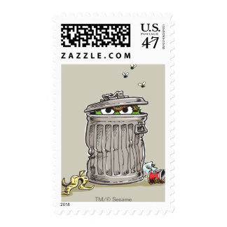 Vintage Oscar in Trash Can Postage