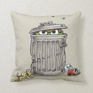 Vintage Oscar in Trash Can Throw Pillow