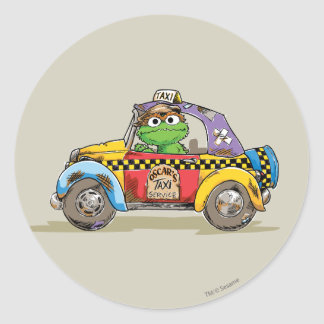 Vintage Oscar's Taxi Service Classic Round Sticker