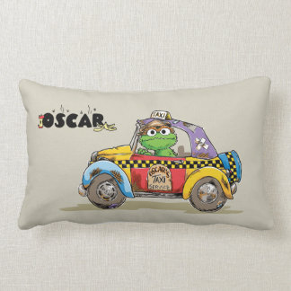 Vintage Oscar's Taxi Service Lumbar Pillow