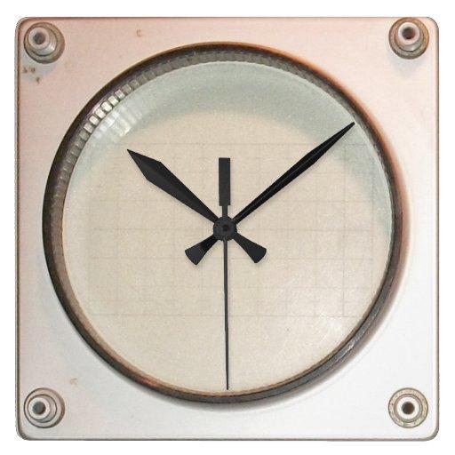 Old Oscilloscope Screen : Vintage oscilloscope display screen clock zazzle