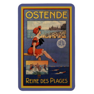 Vintage Ostend Summer beach travel bathing beauty Magnet