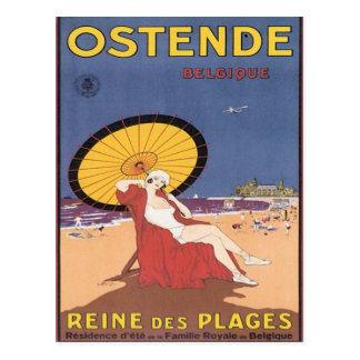 Vintage Ostende Belgique Tarjetas Postales