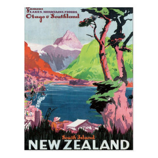 Vintage Otago New Zealand Postcard