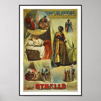 """Vintage """"Othello """" del teatro de los posters"""