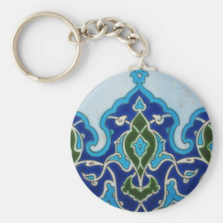 Vintage Ottoaman blue and white tile Keychain