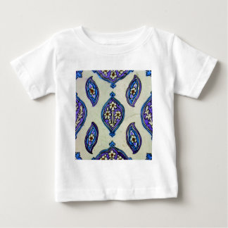 Vintage Ottoman Tile FLORAL Abstract  DESIGN Baby T-Shirt
