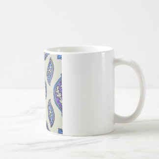 Vintage Ottoman Tile FLORAL Abstract  DESIGN Coffee Mug