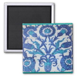Vintage Ottoman Tile FLORAL DESIGN Fridge Magnet