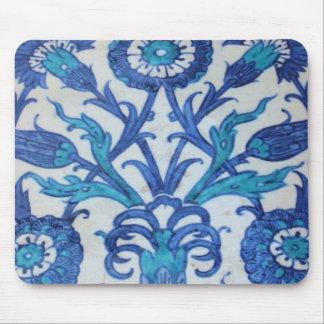 Vintage Ottoman Tile FLORAL DESIGN Mouse Pad