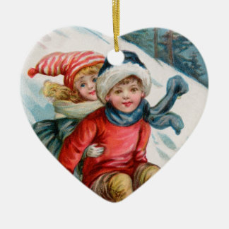 Vintage Our First Christmas ornament