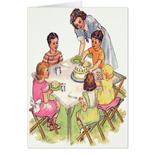 Vintage Outdoor Birthday Party Card