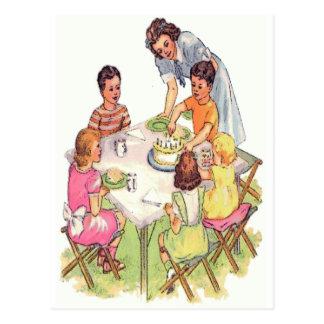 Vintage Outdoor Birthday Party Postcard