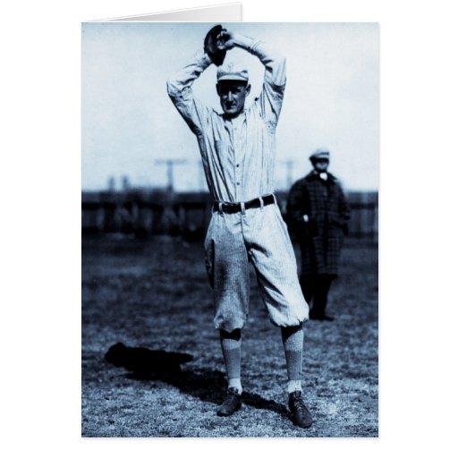 Vintage Outfielder (Cyanotype) Card