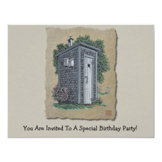 Vintage Outhouse Card