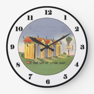 Vintage Outhouse Clock