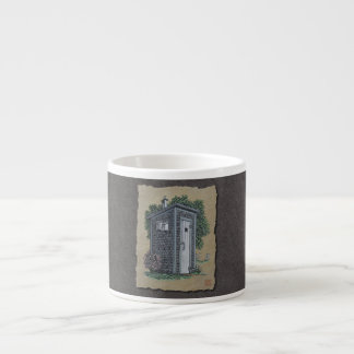 Vintage Outhouse Espresso Cup