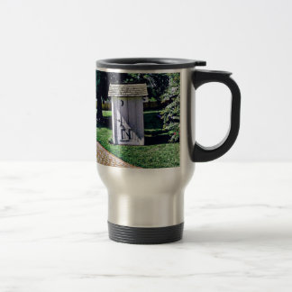 Vintage Outhouse From Harry Truman's Childhood 15 Oz Stainless Steel Travel Mug