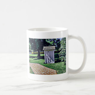 Vintage Outhouse From Harry Truman's Childhood Classic White Coffee Mug