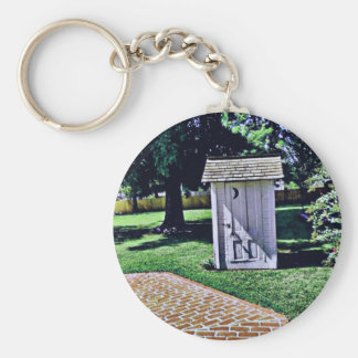 Vintage Outhouse From Harry Truman's Childhood Keychain