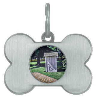 Vintage Outhouse From Harry Truman's Childhood Pet Tag