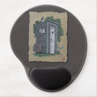 Vintage Outhouse Gel Mouse Pad