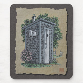 Vintage Outhouse Mouse Pad