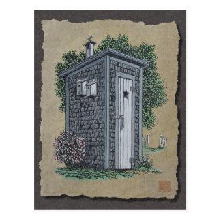 Vintage Outhouse Postcard