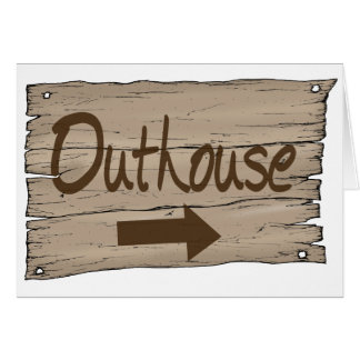 vintage outhouse right greeting card