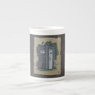 Vintage Outhouse Porcelain Mug