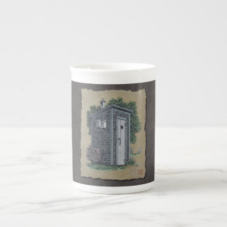 Vintage Outhouse Tea Cup