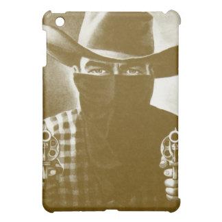 Vintage Outlaw Cowboy Apple iPad Mini Case (Gold)