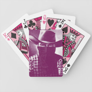Vintage Outlaw Cowboy Playing Cards Pink