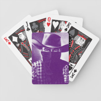Vintage Outlaw Cowboy Playing Cards Purple