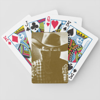 Vintage Outlaw Cowboy Revolver Playing Card Gold Card Deck