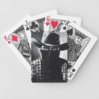 Vintage Outlaw Cowboy Revolver Playing Cards