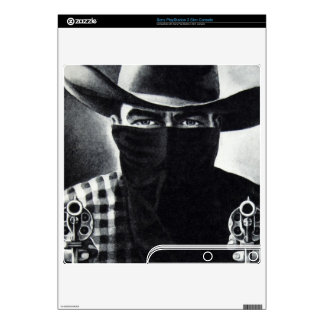 Vintage Outlaw Cowboy Sony PS3 Slim Console Skin
