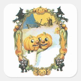 Vintage Oval Pumpkin Design Sticker