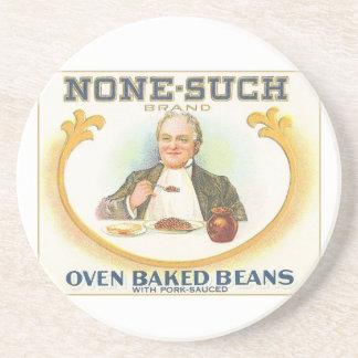 Vintage Oven Baked Beans Label Drink Coaster