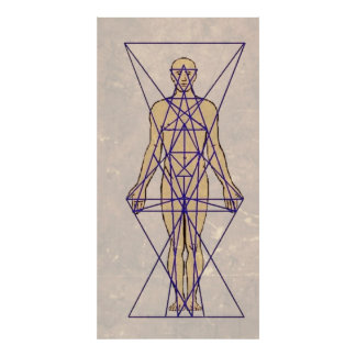 Vintage overview over humans energy system aura poster