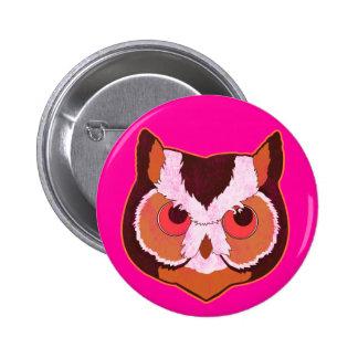 Vintage Owl 2 Inch Round Button