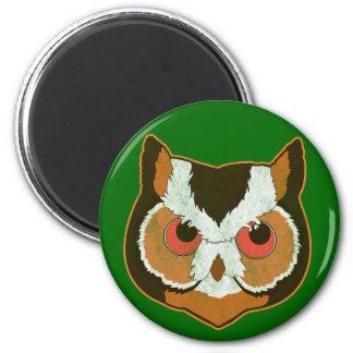 Vintage Owl 2 Inch Round Magnet