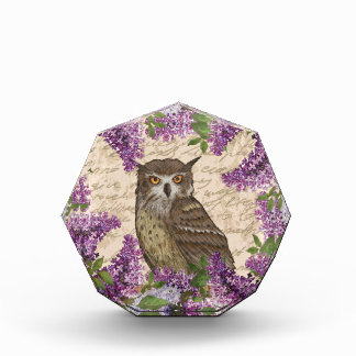 Vintage owl and lilac award